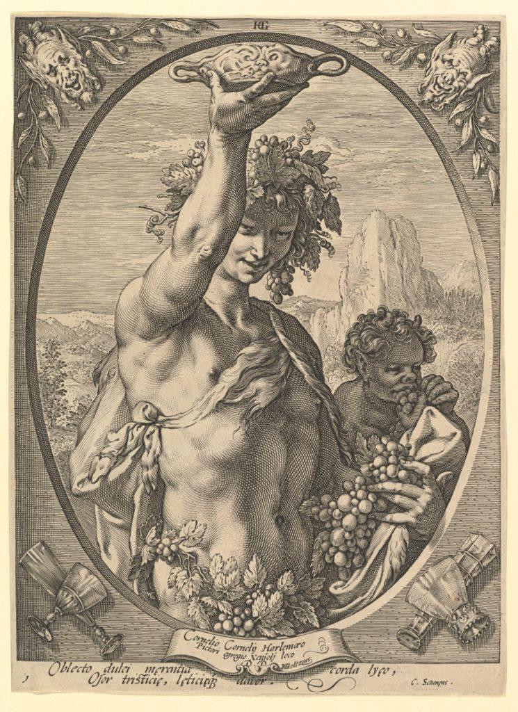 Bacchus, by Hendrick Goltzius, Metropolitan Museum of Art