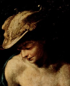 "Antonio da Correggio, Mercury in ""The Education of Eros"" [Public domain], via Wikimedia Commons"