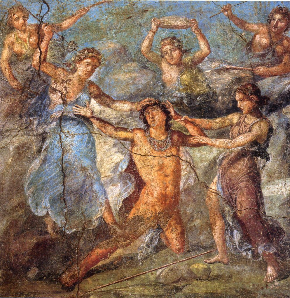 Pentheus Being Torn by Maenads, By WolfgangRieger [Public domain], via Wikimedia Commons