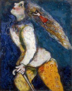 Jeune fille en marche, by Marc Chagall