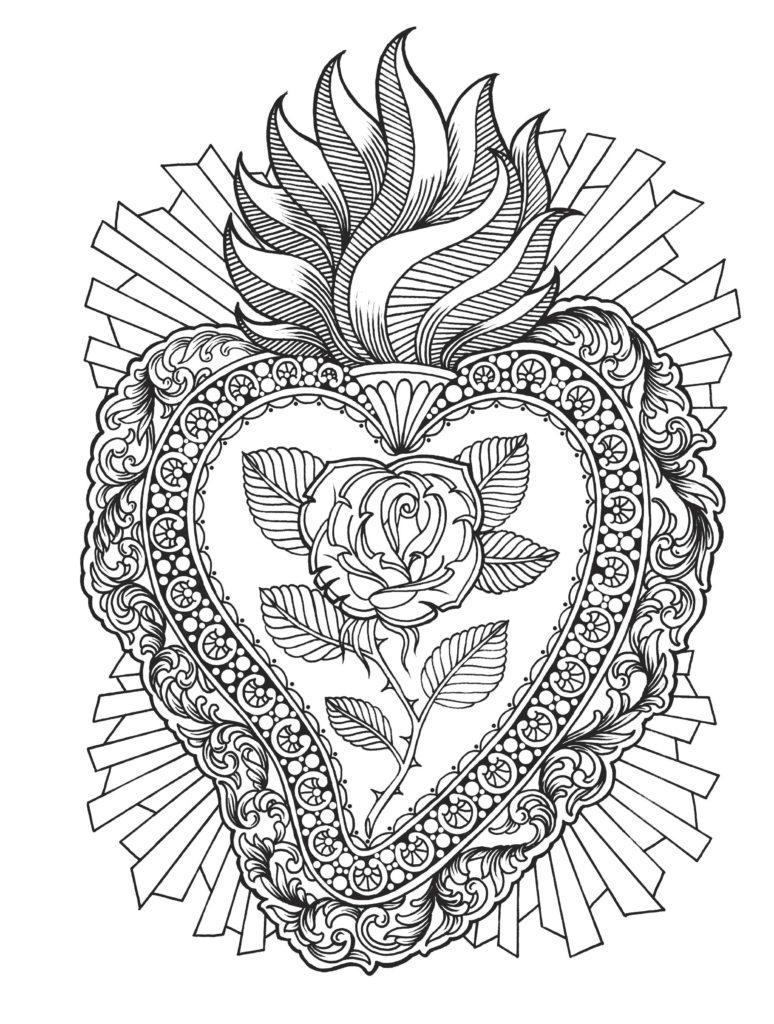 Flaming Heart, by Megan Massacre