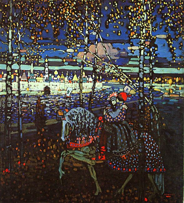 Couple Riding, by Wassily Kandinsky